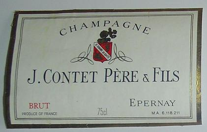 champagne j contet pere et fils